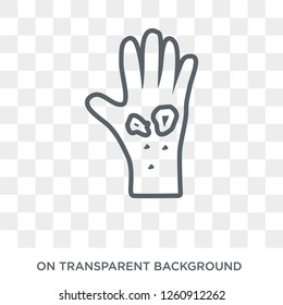 Scleroderma icon. Trendy flat vector Scleroderma icon on transparent background from Diseases collection. High quality filled Scleroderma symbol use for web and mobile