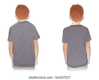 Scoliosis in children, bad posture, the child's back, curvature of the spine.