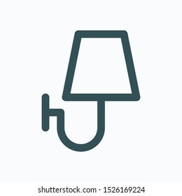 Sconce isolated icon, wall light lamp linear vector icon