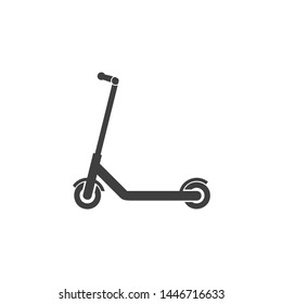 Scooter icon template black color editable. Scooter symbol vector sign isolated on white background. Simple logo vector illustration for graphic and web design.