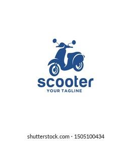 Scooter Logo Design Stock Vector