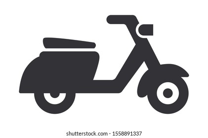 Scooter or moped vector illustration icon