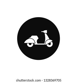 Scooter rounded icon