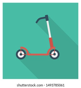 scooter for transport flat icon