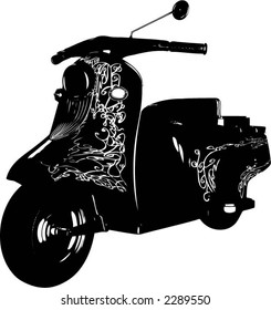 Scooter - vector