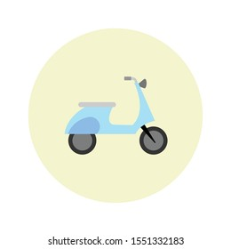scooty simple illustration clip art vector