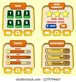 Score Game Vector UI