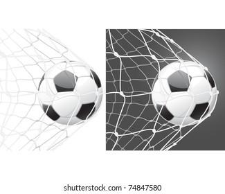 Score a goal, soccer ball