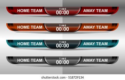 scoreboard sport template for football and soccer, vector illustration