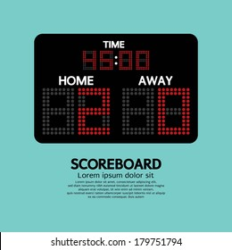 Scoreboard Sport Vector Illustration