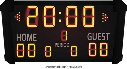 Scoreboard. vector illustration