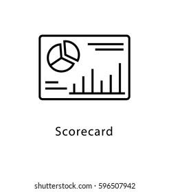 Scorecard Vector Line Icon