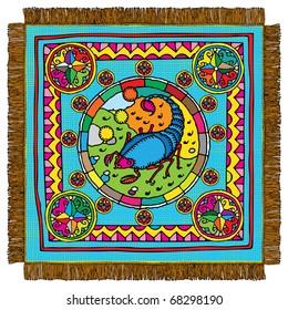 Scorpio horoscope sign carpet