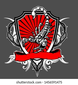Scorpio Vector Template For T-Shirt