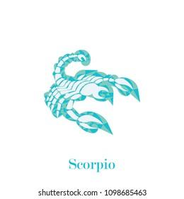 scorpio zodiac sign geometric