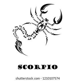 Scorpio Zodiac Sign Tattoo