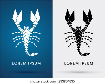 Scorpion abstract  icon, symbol, logo, vector.