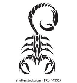 Scorpion graphic design vector illustration, icon, art tattoo sketch, hand draw, logo, use in print