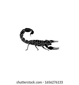 scorpion icon animal black vector illustration
