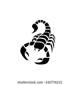 Scorpion icon in simple tattoo style,vector design