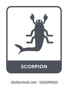 scorpion icon vector on white background, scorpion trendy filled icons from Desert collection, scorpion simple element illustration