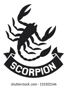 scorpion label (symbol)