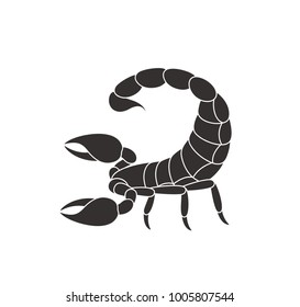 Scorpion logo. Isolated scorpion on white background. EPS 10. Vector illustration