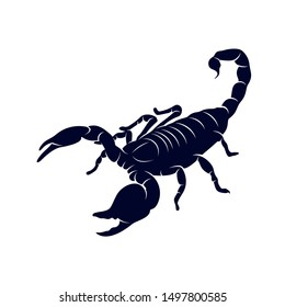 Scorpion Logo Vector, vector image for the tattoo, symbol or logo, Illustration Template