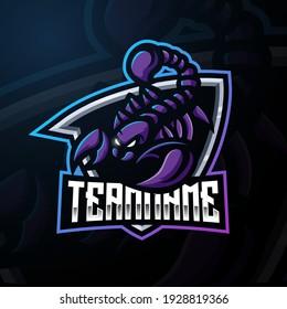 Scorpion mascot esport logo design