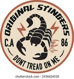 Scorpion patterned vector badge design