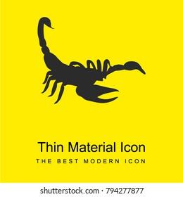 Scorpion shape bright yellow material minimal icon or logo design