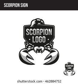 scorpion sign with place for your text