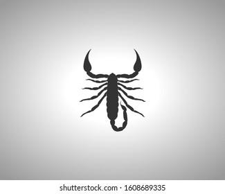 Scorpion Silhouette on White Background. Isolated Vector Animal Template for Logo Company, Icon, Symbol etc