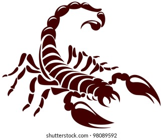 Scorpion, vector image for the tattoo, symbol or logo