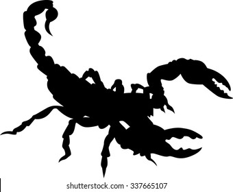 Scorpion vector silhouette