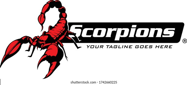 Scorpions Logo Template, Unique and fresh Scorpion Vector Illustrations