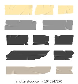 Scotch tapes inaccurately stuck of light and dark colors