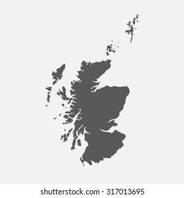 Scotland country border map.