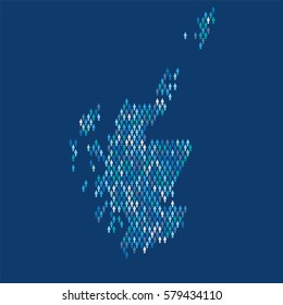 Scotland country map made up of people icon