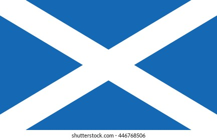 Scotland flag also known as St Andrews Cross or the Saltire. Scottish national banner. EPS8 vector illustration.