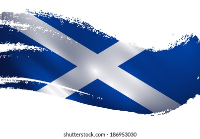 Scotland flag paint splash vector illustration