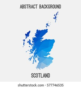 Scotland in geometric polygonal style.Abstract tessellation,modern design background. Vector illustration