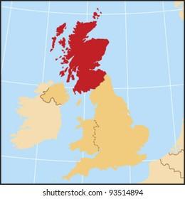 Scotland Locate Map