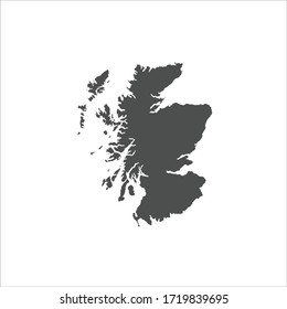 Scotland Map Flat Design Icon Vector