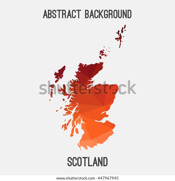 Scotland map in geometric polygonal,mosaic style.Abstract tessellation,modern design background. Vector illustration EPS8