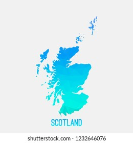 Scotland map low poly geometric polygonal,mosaic style,abstract tessellation,modern design background. Geometric cover, mockup. Vector illustration EPS10.