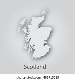 Scotland map in paper cut style.Abstract modern design background. Vector illustration EPS10