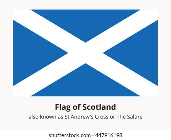 Scotland state banner also known as St Andrews Cross or the Saltire. Scottish national flag. Vector illustration in eps8 format.