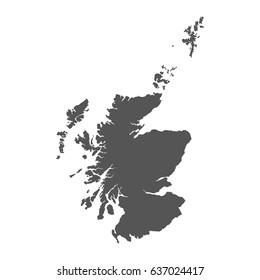 Scotland vector map. Black icon on white background.