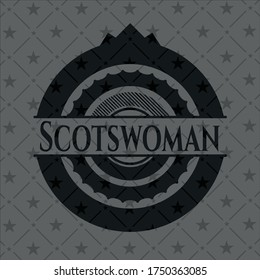 Scotswoman dark icon or emblem. Vector Illustration. Detailed.